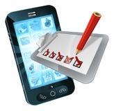 Tablero en línea de la encuesta sobre el teléfono móvil ilustración del vector