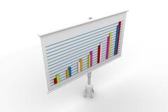 Tablero financiero del gráfico Imagen de archivo libre de regalías