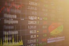 Tablero financiero del mercado de bolsa de acción de Asia Pacific en el fondo común de los datos de intercambio Fotos de archivo libres de regalías