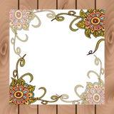 Tablero floral abstracto en estilo indio Foto de archivo libre de regalías