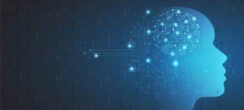 Tablero futurista abstracto b de la tecnología de Internet del ordenador del circuito stock de ilustración