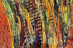 Tablero hecho de partes movibles coloridos Imagenes de archivo