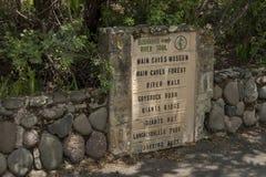 Tablero indicativo al reserv de la naturaleza de Kwazulu Natal del castillo de Giants imagenes de archivo
