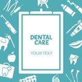 Tablero médico con el texto del cuidado dental Imagen de archivo libre de regalías