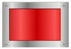 Tablero metálico de la muestra de la exhibición Fotos de archivo libres de regalías