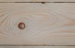 Tablero previsto del pino con los nudos imagen de archivo