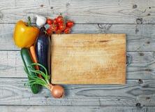 Tablero que cocina el ingrediente Imagenes de archivo