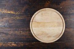 Tablero redondo de la pizza Imagen de archivo