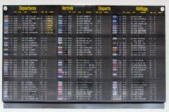 Tablero terminal de la información - 13 Fotografía de archivo