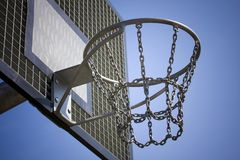 Tablero trasero del acero del baloncesto Fotografía de archivo