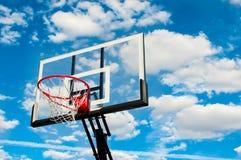 Tablero trasero del aro de baloncesto Imágenes de archivo libres de regalías