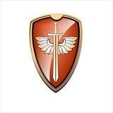 Tablero y espada del oro Imágenes de archivo libres de regalías