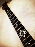Tablero y secuencias del traste de la guitarra Imagen de archivo libre de regalías