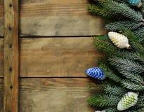 Tableros con las decoraciones de la Navidad Fotos de archivo libres de regalías