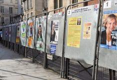 Tableros de la elección en París, Francia Imagenes de archivo