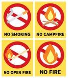 Tableros de la llama del fuego Imagen de archivo