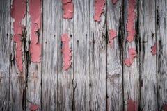 Tableros de madera con la pintura de la peladura imagenes de archivo