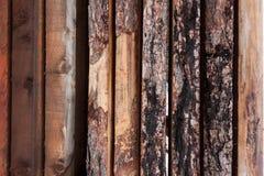 Tableros de madera de lado a lado Imágenes de archivo libres de regalías