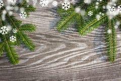 Tableros de madera del fondo de la Navidad viejos Fotografía de archivo