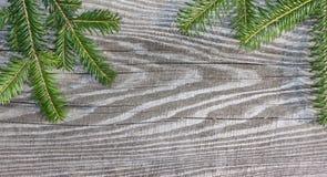 Tableros de madera del fondo de la Navidad viejos Imagen de archivo