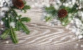 Tableros de madera del fondo de la Navidad viejos Foto de archivo libre de regalías