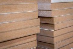 Tableros de madera del Mdf fotografía de archivo libre de regalías
