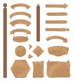 Tableros de madera para el sistema grande de los ejemplos de las muestras ilustración del vector