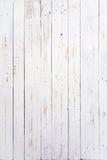 tableros de madera pintados blancos Foto de archivo libre de regalías