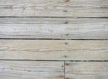 Tableros de madera resistidos del fondo 0005 con los clavos Fotografía de archivo