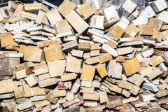 Tableros de madera rotos Fotografía de archivo libre de regalías