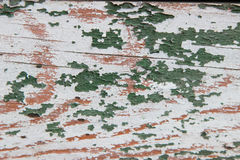 Tableros de madera verdes lamentables de la textura viejos Foto de archivo