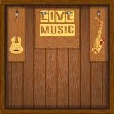 Tableros de madera vivos del fondo musical Imagenes de archivo