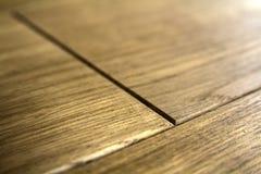 Tableros de piso de madera de entarimado de la textura marrón natural Imagenes de archivo