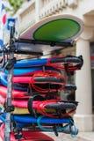 Tableros de resaca en una pila foto de archivo libre de regalías