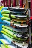Tableros de resaca en una pila fotografía de archivo