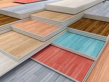 Tableros de suelo coloreados multi del entarimado ilustración del vector