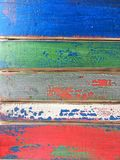 Tableros pintados multicolores de la falsa peladura Imágenes de archivo libres de regalías