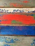 Tableros pintados multicolores de la falsa peladura Imagen de archivo