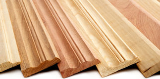 Tableros que bordean de madera Imagen de archivo