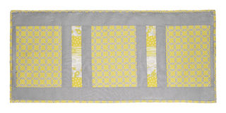 Tablerunner quilt. Isolated on a white background Stock Images
