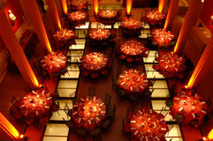 Tables. Top view on tables for wedding reception Royalty Free Stock Photography