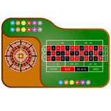 Tables, American  Roulette. Vector illustration Stock Photos