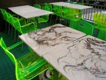 Tables au néon Photographie stock libre de droits