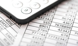 Tables, balance calculation Royalty Free Stock Photo