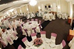 Tables in a ballroom Stock Photos