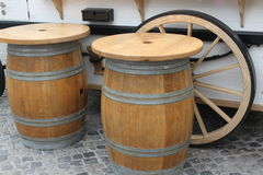 Tables barrels Royalty Free Stock Photos