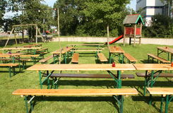 Tables and benches Royalty Free Stock Photography