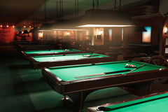 Tables in a billiard room. Stock Photography