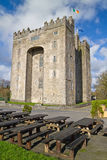 Tables at the Bunratty castle Royalty Free Stock Photography
