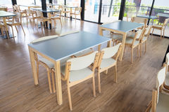 Tables And Chair In Empty Cafe Royalty Free Stock Photo